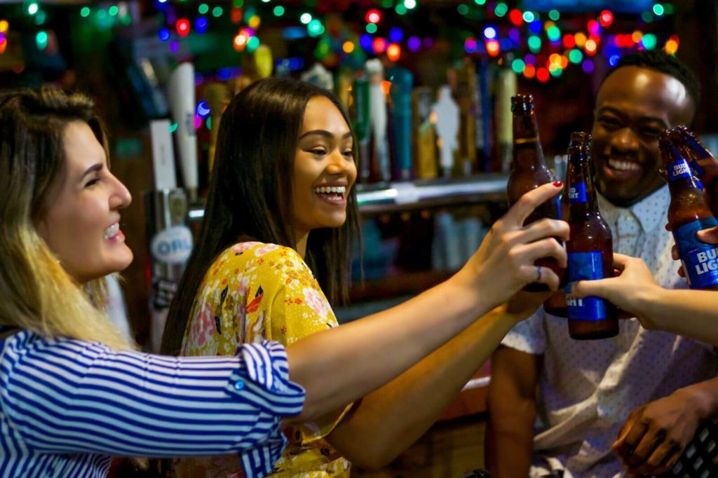 After a busy day at the Orange country Convention Center, friends get together at Tin Roof for a beer and live music at ICON.
