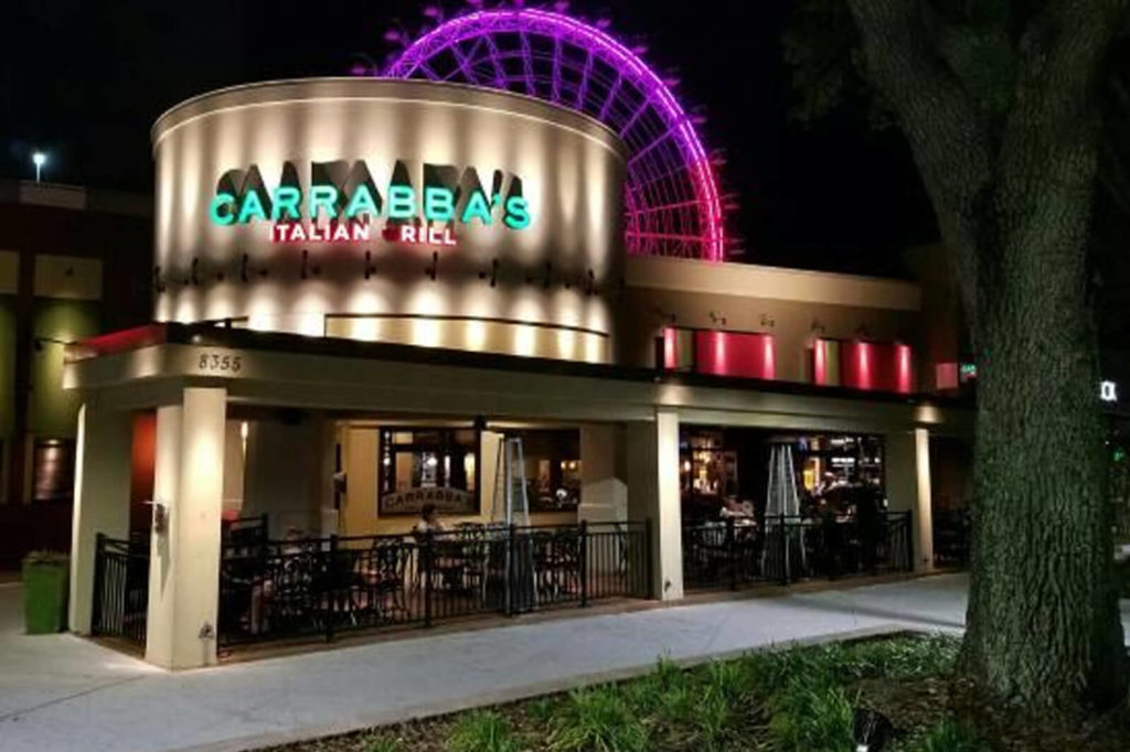 Carrabba's Italian Grill at ICON Orlando 360 serves authentic Italian cuisine with a view of ICON's famous observation wheel.